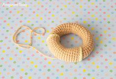 Lion baby rattle crochet pattern - ring
