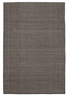 Kleed VASSARV 160x230 wol zwart/wit | JYSK