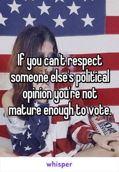 To the many people with political opinions....?