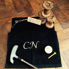 A personal favorite from my Etsy shop https://www.etsy.com/listing/235800148/luxury-personalised-golf-towel