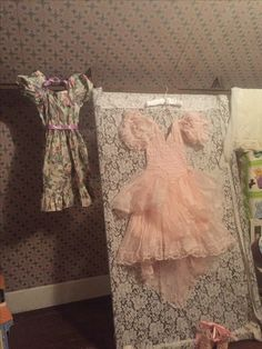 Repurposed Antique Lace Curtain Stretcher