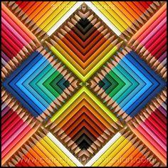 Rainbow Drawing need Rainbow Colors pencils. ❤