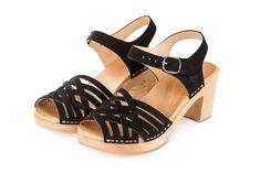 Black leather Clogs Kulikstyle Swedish Clogs Sandals | Etsy