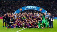 UEFA Champions League celebrations #FCBarcelona #Tripl3t #CampionsFCB #FansFCB #ChampionsLeague