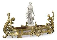 19th century ormolu sevres centerpiece | LARGE FRENCH ORMOLU, BISCUIT AND SEVRES STYLE COBALT BLUE-GROUND ...