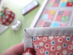 How to miter corners of a binding tutorial by Lori Holt