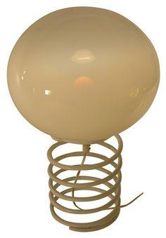 WHITE POP ART TABLE LAMP IN THE STYLE OF INGO MAURER - $350.