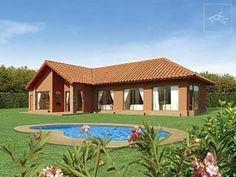 Wooden House Design, Sims House Plans, Casa Patio, Mexico House, Concept Home, Farmhouse Plans, Patio Design, Mansions, Architecture