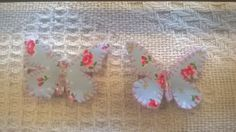 Fabric butterfly hair clips