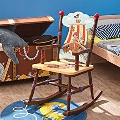 Fantasy Fields Thematic Boy's Wooden Small Rocking Chair (Pirates Island)