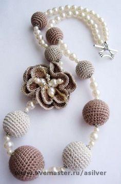 Photo from album Teal Necklace, Beaded Earrings, Crochet Earrings, Beaded Bracelets, Lace Jewelry, Fabric Jewelry, Handmade Jewelry, Bridal Jewelry, Trendy Necklaces