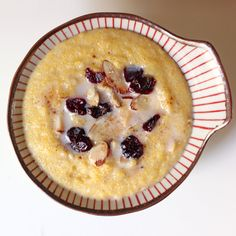 Gluten-Free Breakfast Polenta: After a bone-chilling morning run, you need a hearty breakfast that warms you up. Brownie Desserts, Oreo Dessert, Mini Desserts, Coconut Dessert, Gluten Free Fast Food, Foods With Gluten, Gluten Free Recipes, Gourmet Recipes, Cooking Recipes