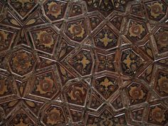 Istanbul, Turkey: Rustem Pasha Camii (Mosque): decoration (embossed leather?) on ceiling (1560, architect Mimar Sinan)