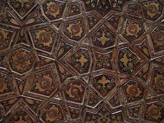 Istanbul, Turkey: Rustem Pasha Camii (Mosque): decoration (embossed leather?) on ceiling (1560, architect Mimar Sinan)