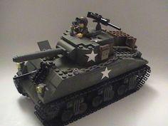 lego world photo gallery | World War Two Sherman Tank : a LEGO® creation by Gage Halstead ...