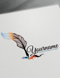 Fountain Pen Logo Design Maker – Free feather pen Logo Maker Online Create a logo online with this amazing feather logo templates and the best feather pen Maker logo png Fountain Pen Logo Design Free feather pen Logo Maker Online Logo Maker Software, Logo Maker App, Logo Maker Free, Company Logo Maker, Logo D'art, Logo Pen, Name Logo, Writer Logo, Conception 3d