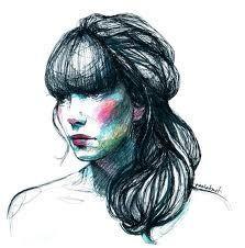 Paula Bonet Pretty Drawings, Amazing Drawings, Art Drawings, Drawing Faces, Fashion Illustration Face, Illustration Girl, Paula Bonet, Design Art Drawing, Face Sketch