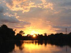 Sunset on Kwai river @Kanchanaburi, Thailand (Jun. 2013)