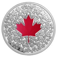 Royal Canadian Mint $20 2013 Fine Silver Coin - Maple Leaf Impression $114.95