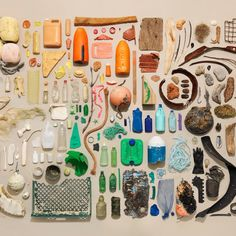 The Surfrider Foundation shares this image of trash from a beach cleanup. We can stop pollution at the source!