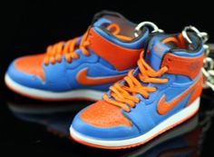 584520f0512bca Air Jordan I 1 Retro High New York Knicks Orange Blue OG Sneakers Shoes 3D…