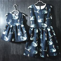 Family matching clothes mother daughter sleeveless dresses large plus size European one-piece women sundress kids girls dresses