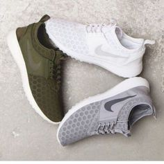 Wheretoget - Nike dots-patterned sneakers in khaki, grey and white