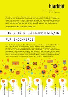 #Blackbit #Jobs: Wir suchen eine/n #eCommerce #Programmierer/in in #Göttingen, #Berlin, #Hamburg oder #Frankfurt. Schick uns jetzt deine #Kurzbewerbung an jobs@blackbit.de!   http://www.blackbit.de/jobs