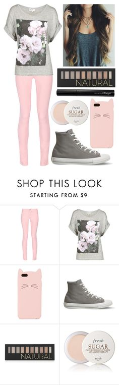 """""""Pink & Grey"""" by spnlex ❤ liked on Polyvore featuring Maison Kitsuné, Wildfox, Kate Spade, Converse, Forever 21, Fresh and Antonym"""