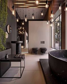 People are often hesitant in using black hues. If you are one of them, let us change your opinion with a fine selection of black interior design ideas Bathroom Design Layout, Best Bathroom Designs, Bathroom Trends, Modern Bathroom Design, Bathroom Interior Design, Bathroom Showrooms, Black Interior Design, Home Decor Bedroom, Bedroom Modern