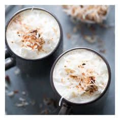 Coconut White Hot Chocolate foodgawker ❤ liked on Polyvore featuring backgrounds