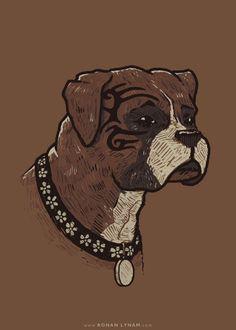 The Boxer - 2014 / Ronan Lynam #miketyson #popculture #parody #art #dogs #boxers #boxer #brown