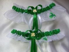 Irish St Patricks Day Wedding Garter Set