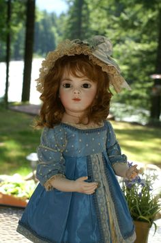 Bebe Bru Jeune enjoys the lovely weather~  Beautiful Bebes Antique Dolls