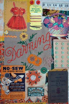 Mandy Pattullo... a textile artist in Northumberland, uses mostly found fabrics. Love her work!