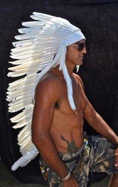 white headdress 3/4 length by wildorchidaustralia on Etsy, $145.00