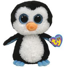 Waddles Beanie Boo is our adorable, unique, cool, crazy big eyed and a super soft plush penguin as only Ty can make it. Yes, our Ty Waddles Beanie Boo Penguin from Ty's new Beanie Boo Collection is av