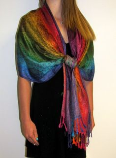 Colorful Pashmina shawls are beautiful for day and evening shawls.....hee, i have got  one of this