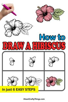 Hibiscus Drawing, Drawings, Cards, Sketches, Maps, Drawing, Portrait, Playing Cards, Draw
