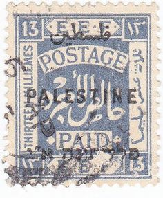 1920s Thirty Shillings Postage Paid Palestine Overprint by onetime, $2.25