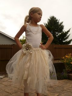 Tulle skirt DIY Instead of a flower, but a big spider on the waist for Halloween