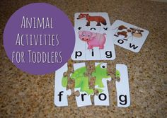 Animal Activities for Toddlers | Toddler Activities | Toddler Education