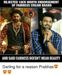 Bollywood Funny, Bollywood Cinema, Prabhas And Anushka, Bahubali 2, Fairness Cream, Prabhas Pics, Foto Shoot, Indian Movies, My Darling