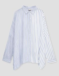 Contrast striped top - Blouses & shirts - Clothing - Woman - PULL&BEAR Ukraine