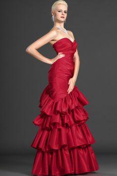 osell wholesale dropship Taffeta Pleated Sweetheart Sleeveless Floor Length Sheath Evening Prom Dresses $73.06