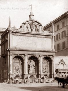 Fontana dell'Acqua Felice. Largo di Santa Susanna Anno: 1880 ca. Taj Mahal, Building, Travel, Rome, Viajes, Buildings, Destinations, Traveling, Trips