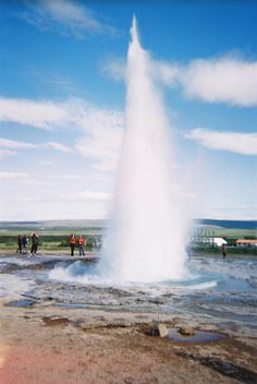 Iceland - boiling water exploding from the earth, truly amazing.