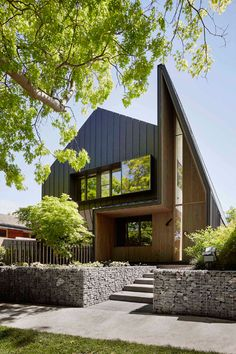 Lake Wendouree House by Inarc features a spiked entrance and a car turntable