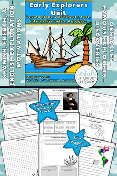 Early Explorers Activities include lesson plans, worksheets, projects, and passages for teaching about the early European explorers. #vestals21stcenturyclassroom #earlyexplorers #earlyexplorersactivities #earlyexplorers5thgrade #earlyexplorersmiddleschool #earlyexplorersproject #earlyexplorersideas