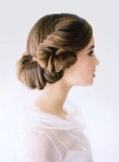 This updo has a vintage feel